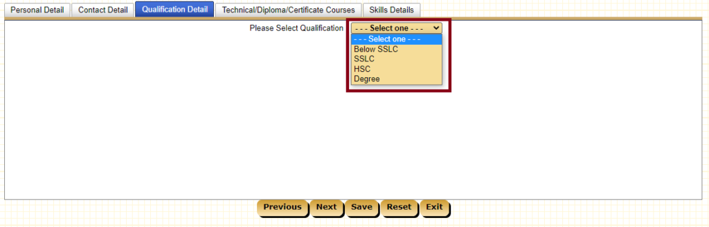 Select Education Qualification