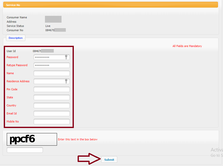 Enter Your Details - tneb bill online pay