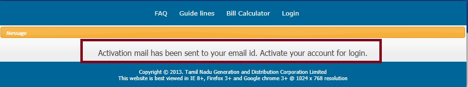 Activate Your Account - tneb bill online pay